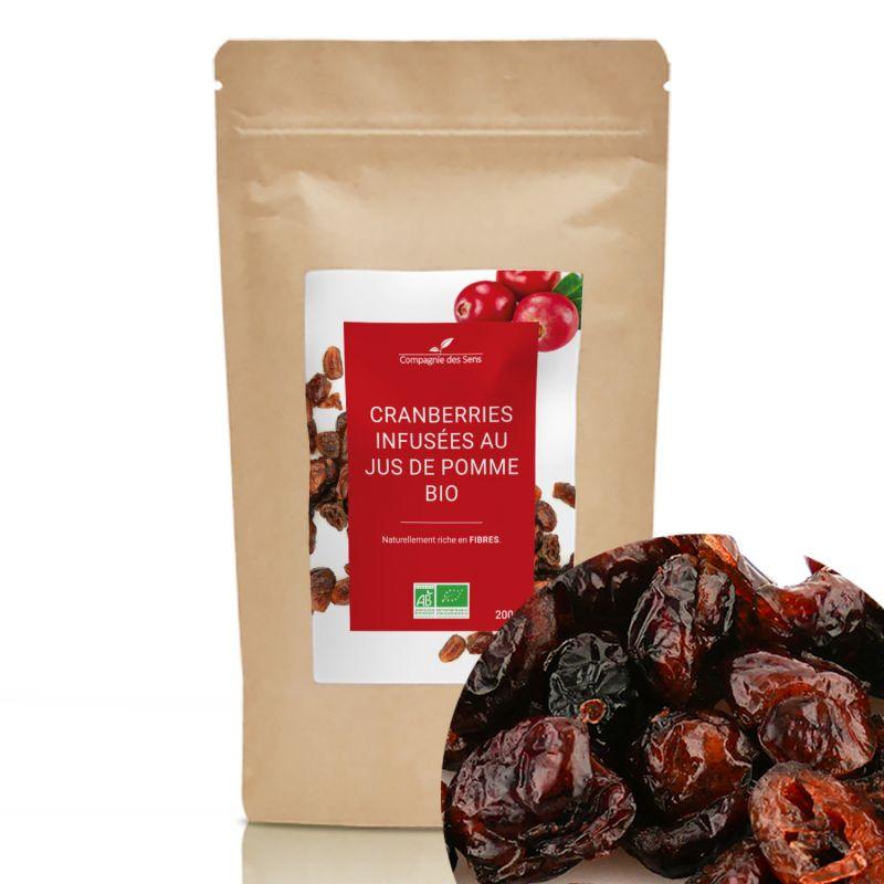Compagnie des Sens - Cranberries infusées au jus de pomme BIO  - 200g