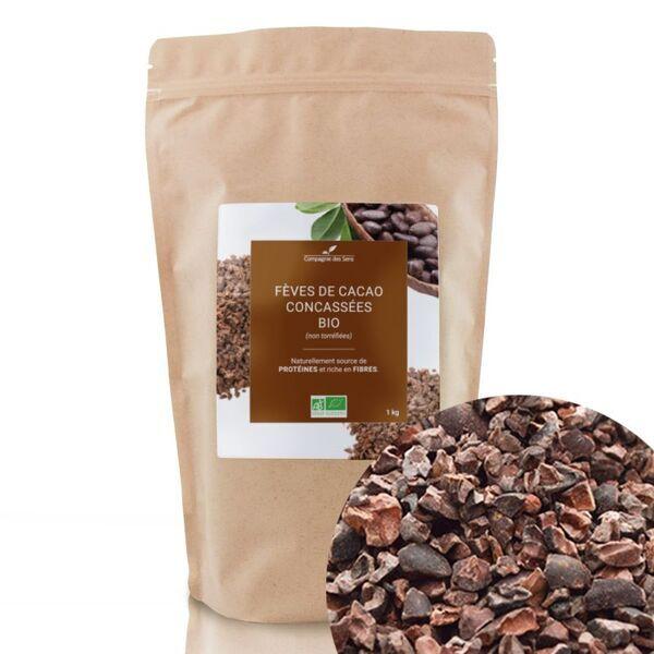 Compagnie des Sens - Fèves de Cacao concassées BIO - Fruits séchés en vrac - 1kg