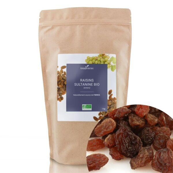 Compagnie des Sens - Raisins Sultanine BIO - Fruits séchés en vrac - 1kg