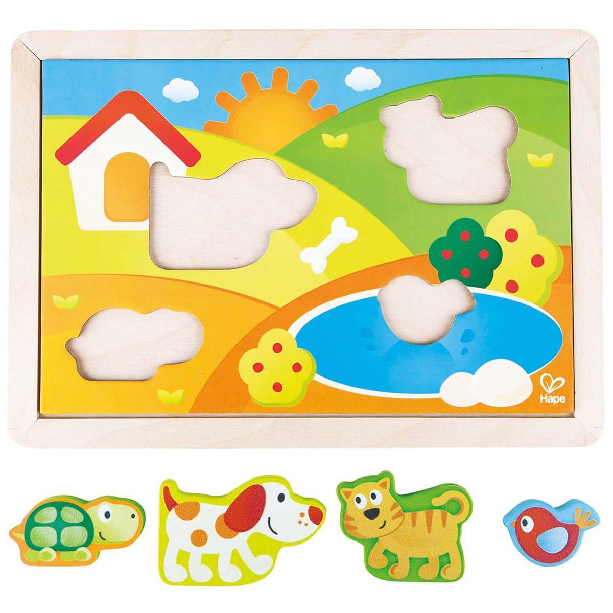 Hape - Puzzle enfant 3en1 hape