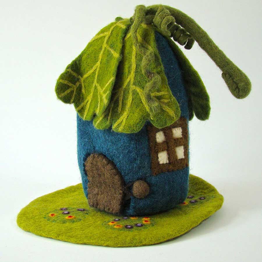 PAPOOSE TOYS - Maison et tapis en laine feutrée Chêne