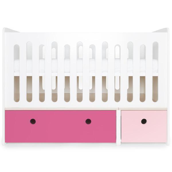 Wookids - Lit bébé évolutif COLORFLEX s pink-pink