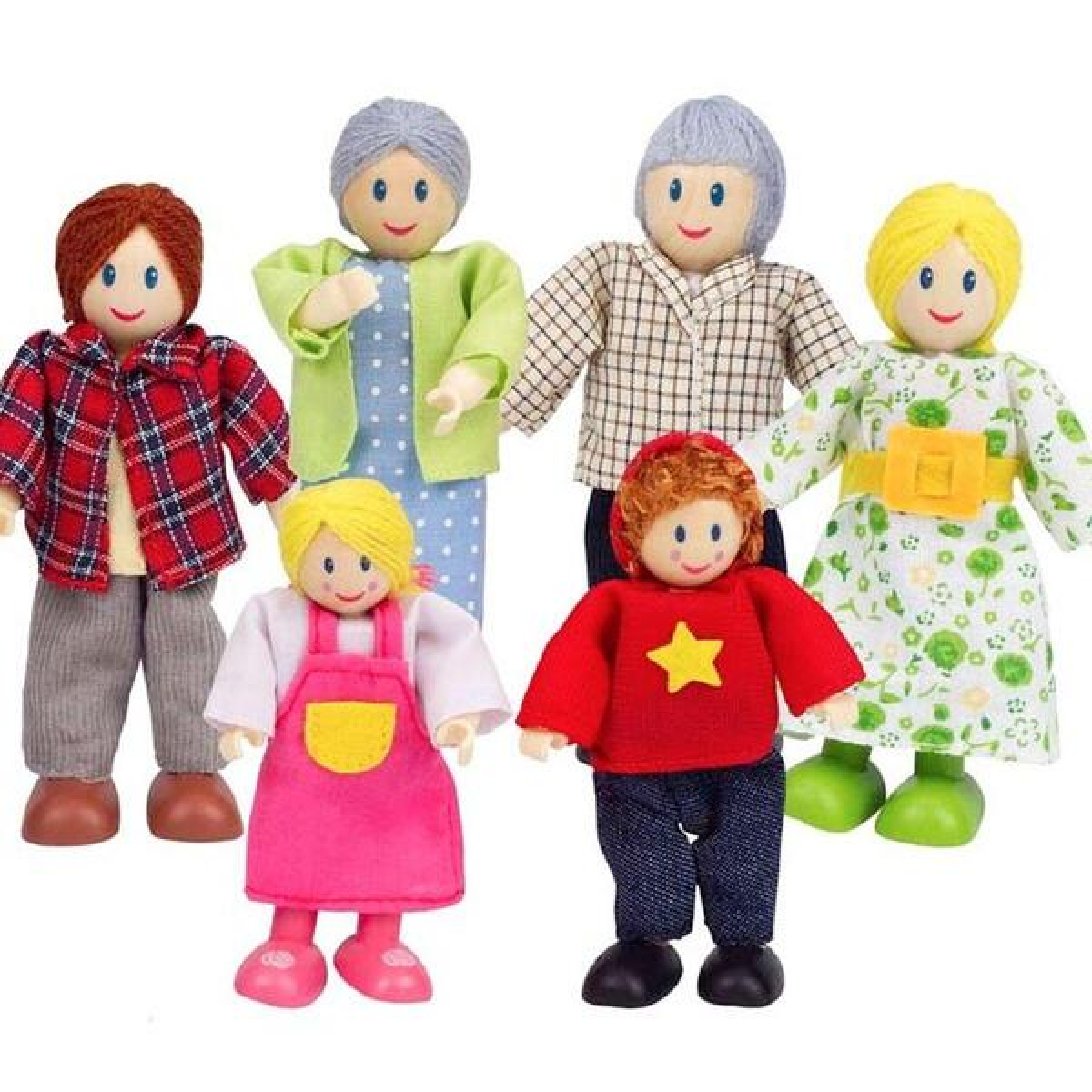 Hape - Famille joyeuse maison de poupée Hape