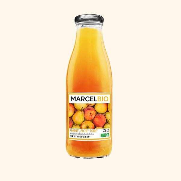Marcel Bio - Pur Jus de Pomme Pêche Poire Bio - 75cl