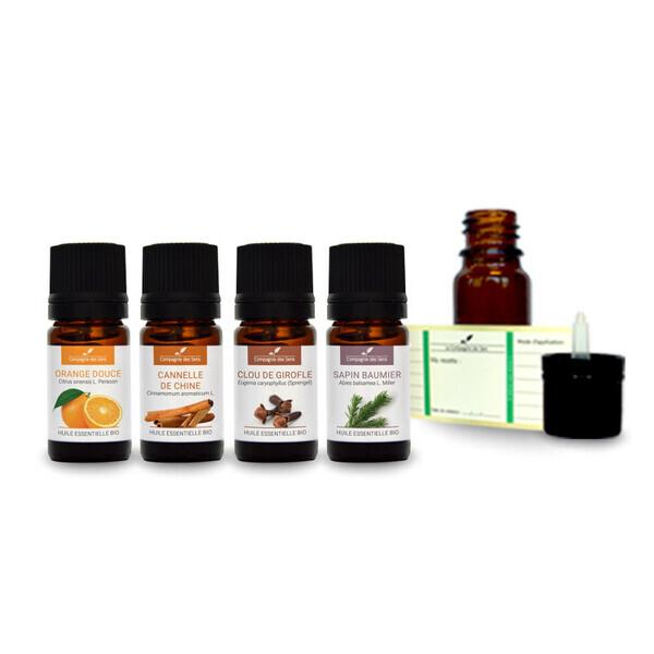 Compagnie des Sens - Ambiance Noël - Pack d'huiles essentielles BIO -
