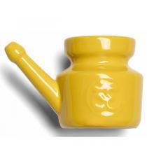 Chin Mudra - Lota Om en porcelaine émaillée 400ml - Jaune Safran