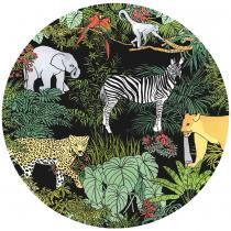 Les jardins de la comtesse - Grande assiette en verre trempé noir 29,5 cm - Jungle