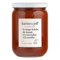 Karine & Jeff - Soupe fraîche de tomate et concombre à la menthe 50cl