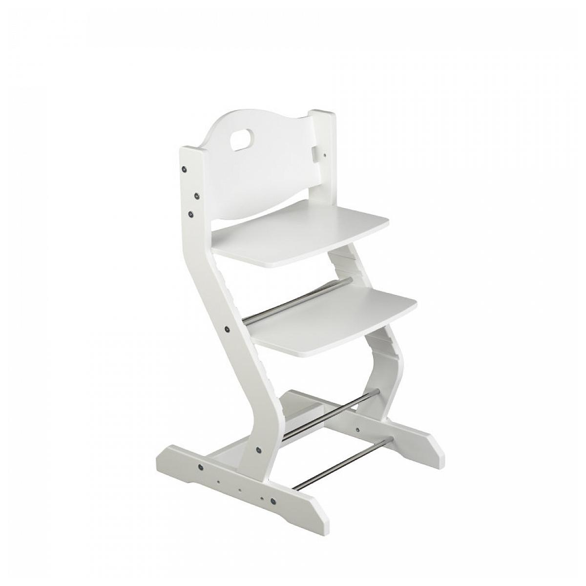 Tissi - Chaise haute pour enfant en hêtre massif blanc