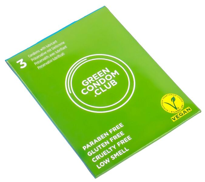 Green Condoms - Boite de 3 préservatifs (Taille Standard)