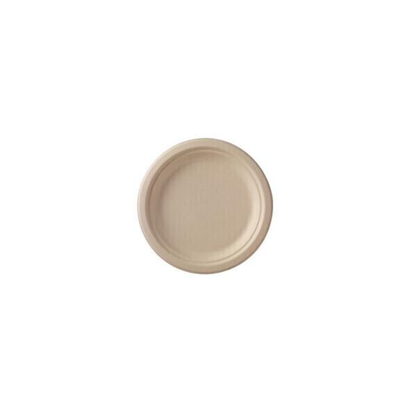 Unikeco - Assiette ronde bagasse 22 cm x 50 Unikeco