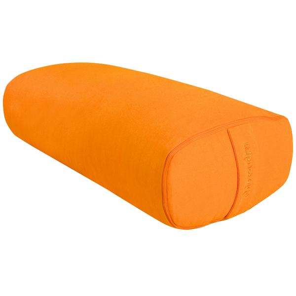 Chin Mudra - Bolster de yoga Ovale KAPOK 100 % coton Bio 60 cm x 15 cm x 30 c