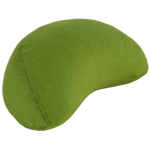 Chin Mudra - Coussin Fuzen (demi-lune) 100% coton Bio - Vert