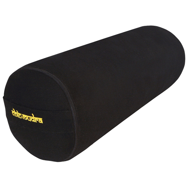 Chin Mudra - Bolster de yoga 100 % coton Bio 65 cm x 21 cm KAPOK - Noir