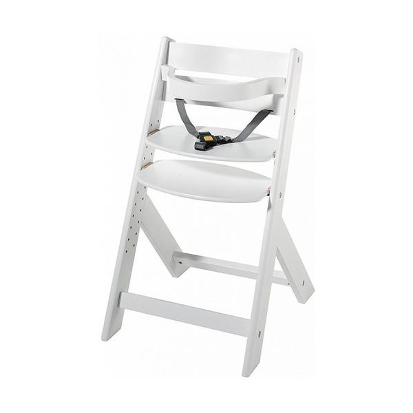 Schardt - Chaise haute hêtre massif blanc Domino