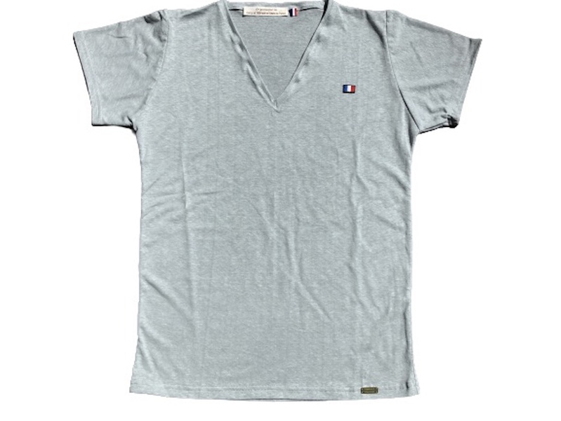 Or'ganic par LC - T shirt RESIST Fabriqué en France, chanvre et coton bio, GRIS M