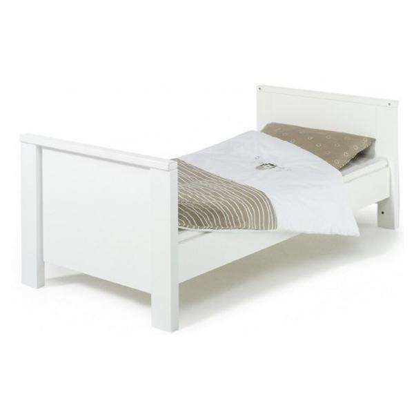 Schardt - Lit enfant bois blanc Milano Couchage 90x200 cm - L 208 x H 75 x