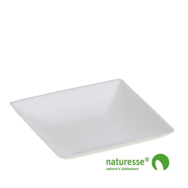 Unikeco - Assiette carrée  9x9 cm KOMODO en fibre végétale x 50 Unikeco