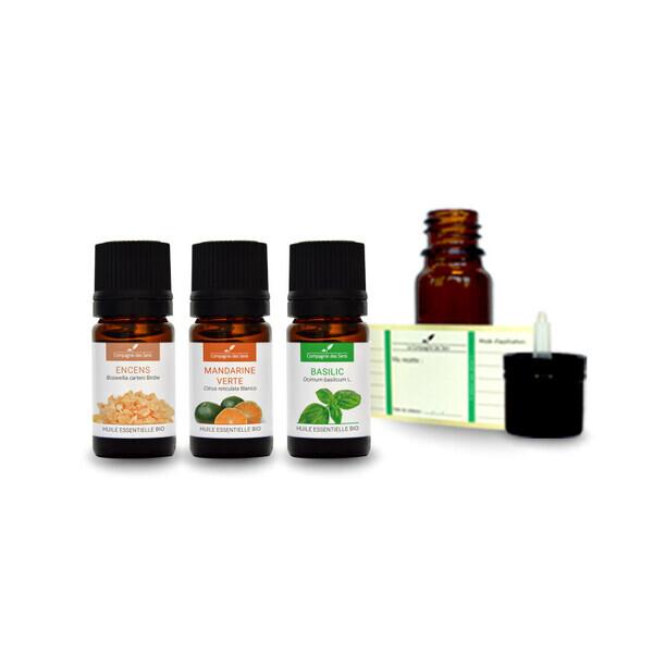 Compagnie des Sens - Ambiance méditation - Pack d'huiles essentielles BIO -