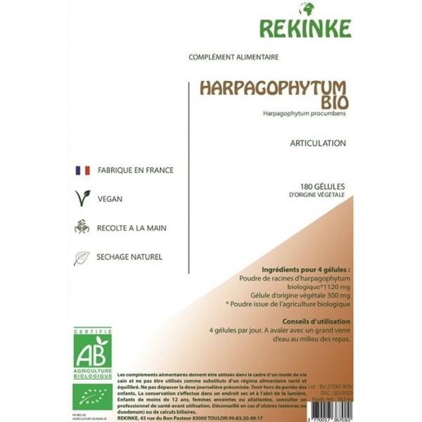 Rekinke - Harpagophytum écologique et vegan 180 gélules Rekinke  Bio
