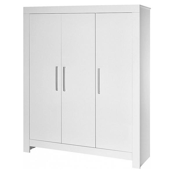 Schardt - Armoire bébé 3 portes bois blanc Nordic White L 154 x H 189 x