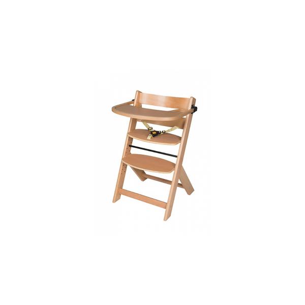 Schardt - Chaise haute pour enfant en hêtre massif naturel