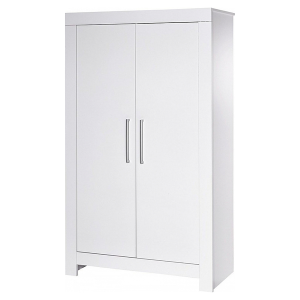 Schardt - Armoire bébé 2 portes bois blanc Nordic White L 109 x H 189 x