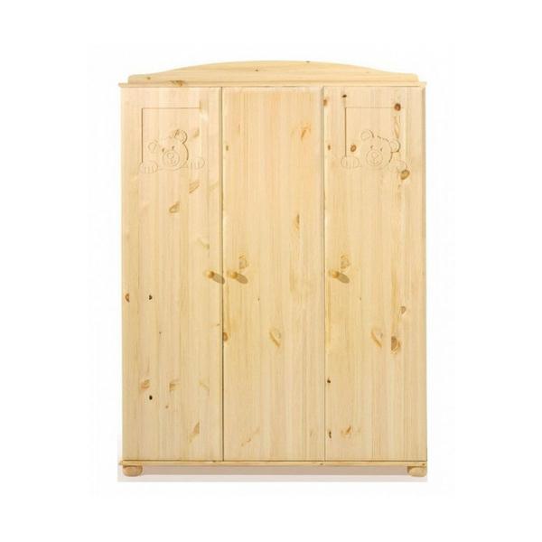Schardt - Armoire bébé 3 portes pin massif clair huilé Dream L 135 x H