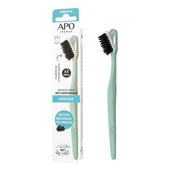 APO - Brosse à dents rechargeable Medium (1 manche + 2 têtes)