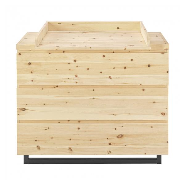 Schardt - Commode avec plan à langer 3 tiroirs pin massif clair