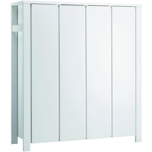 Schardt - Armoire bébé 4 portes bois laqué blanc Milano L 179 x H 200 x