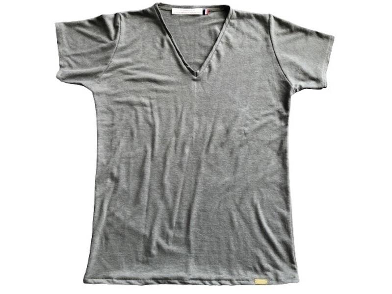 Or'ganic par LC - T shirt RESIST Fabriqué en France, chanvre et coton bio- KAKI XL