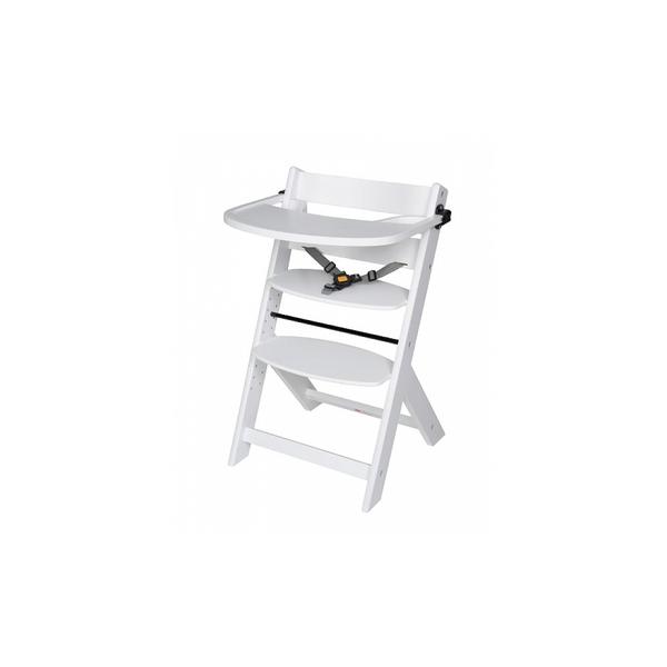 Schardt - Chaise haute pour enfant en hetre massif Blanc