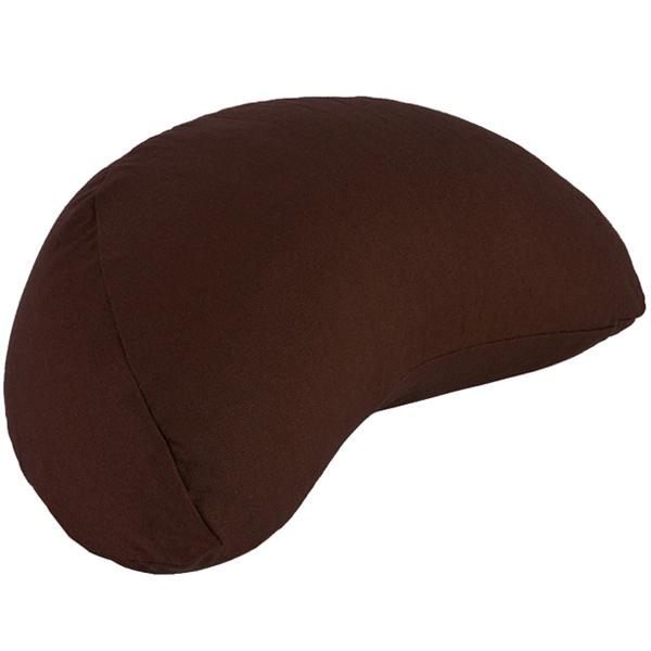 Chin Mudra - Coussin Fuzen (demi-lune) 100% coton Bio - Chocolat