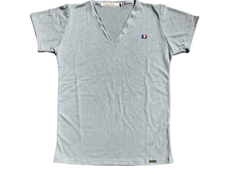 Or'ganic par LC - T shirt RESIST Fabriqué en France, chanvre et coton bio, GRIS S
