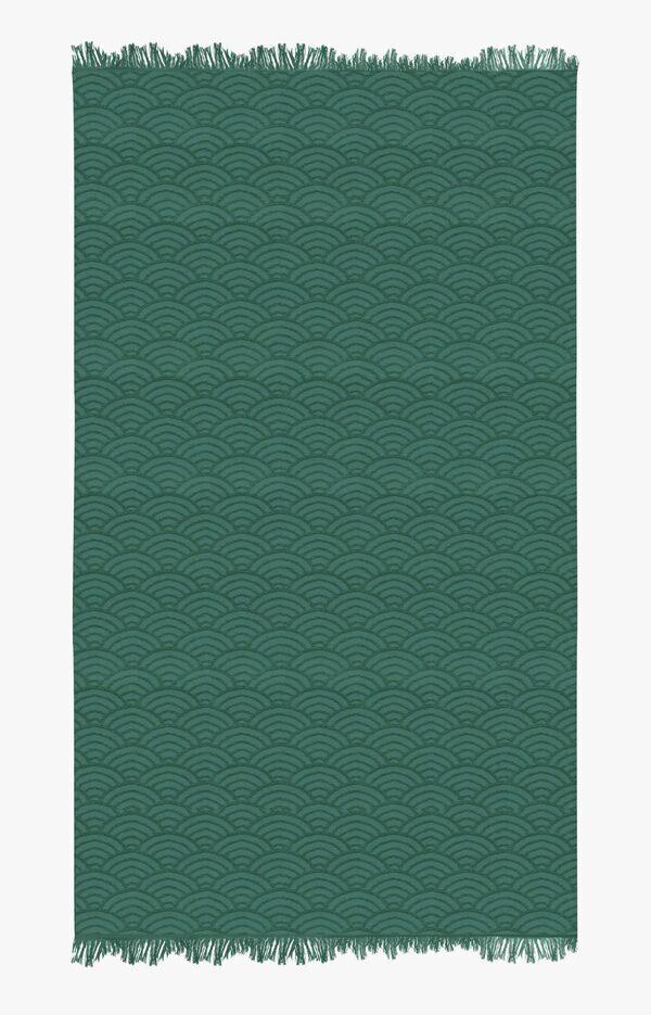 Nuances - Fouta de plage coton 320g 100/180 cmvagues japonaise abysse