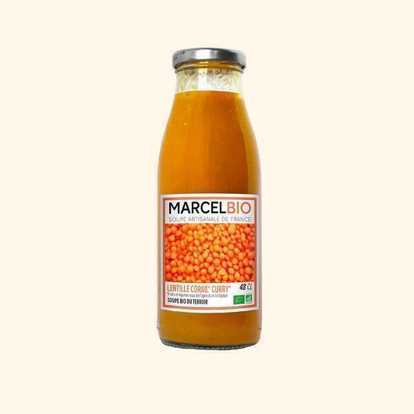 Marcel Bio - Soupe de Lentilles Corail Patate Douce Curry Bio -48cl
