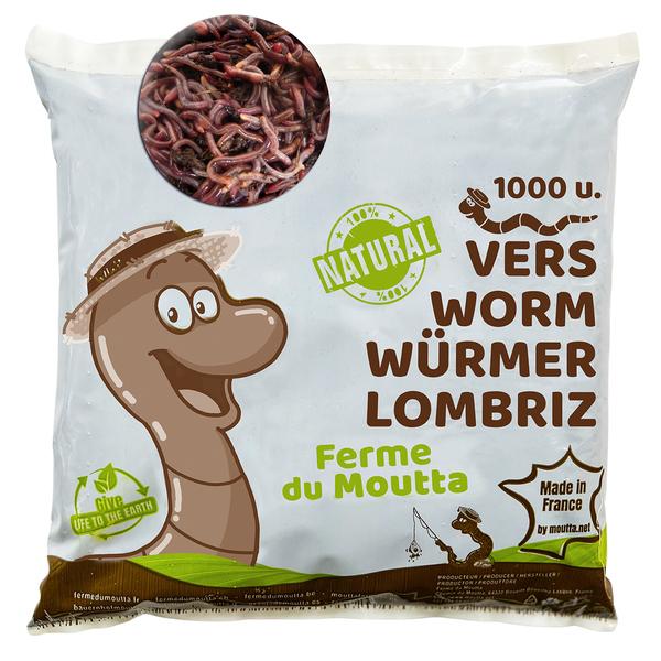 Ferme du Moutta - 500gr de Vers de Compost / Lombric