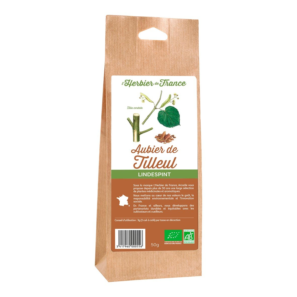 L'Herbier de France - Aubier de tilleul 50g bio