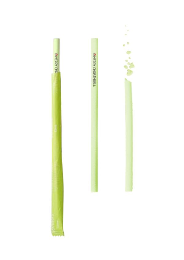 Switch eat - Pailles Comestibles - Citron Vert - MERRY CHRISTMAS - X 200