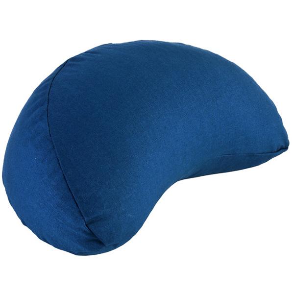 Chin Mudra - Coussin Fuzen (demi-lune) 100% coton Bio - Bleu