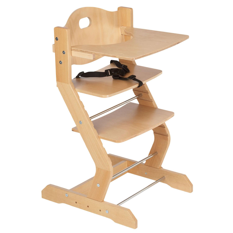 Tissi - Chaise haute pour enfant en hêtre massif naturel