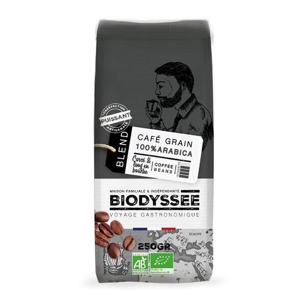Biodyssée - Café grain 100% arabica corsé 250g bio