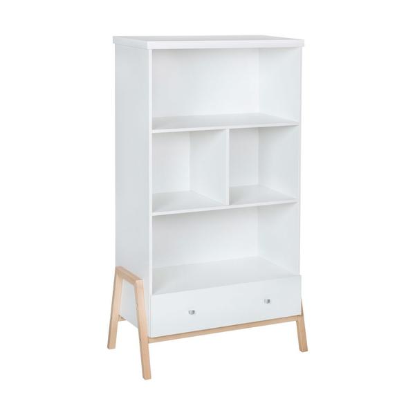 Schardt - Bibliothèque Holly Nature blanc naturel L : 90cm H : 164cm P :