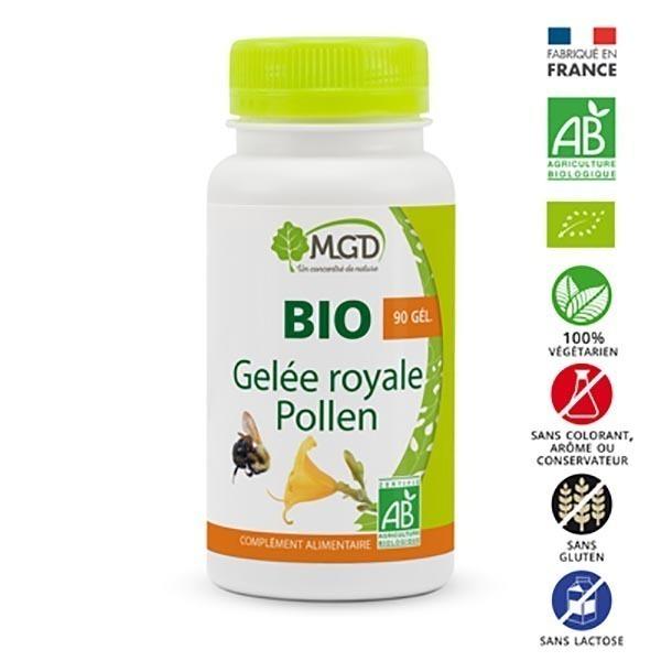 MGD - Gelée royale et pollen 90 gél. bio