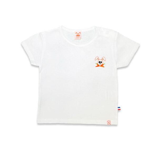 PAPATE - Tshirt en Coton Bio Hotot Blanc 3 ans