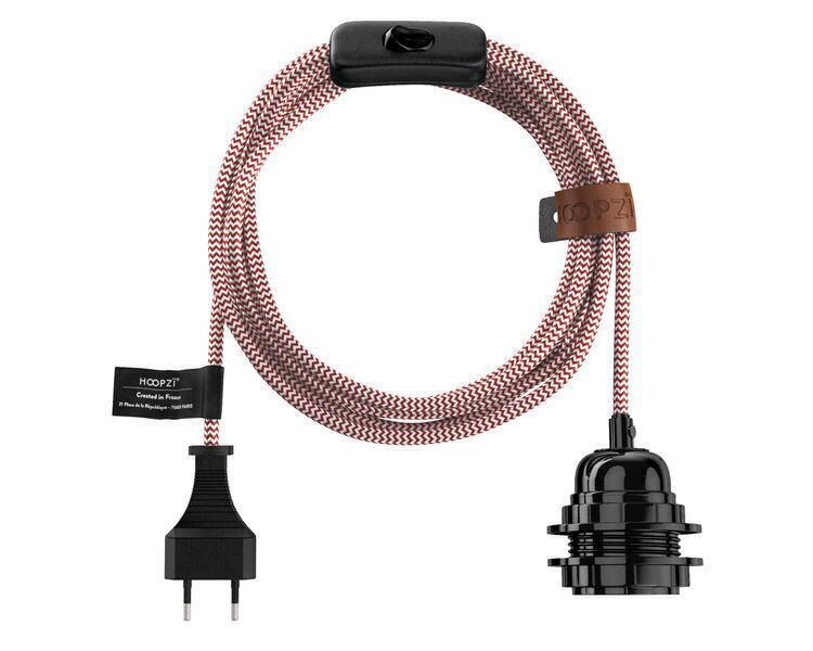 Hoopzï - Bala MOTIFS Fil Electrique Tissu - Luminaire 4,5m (10 couleurs)