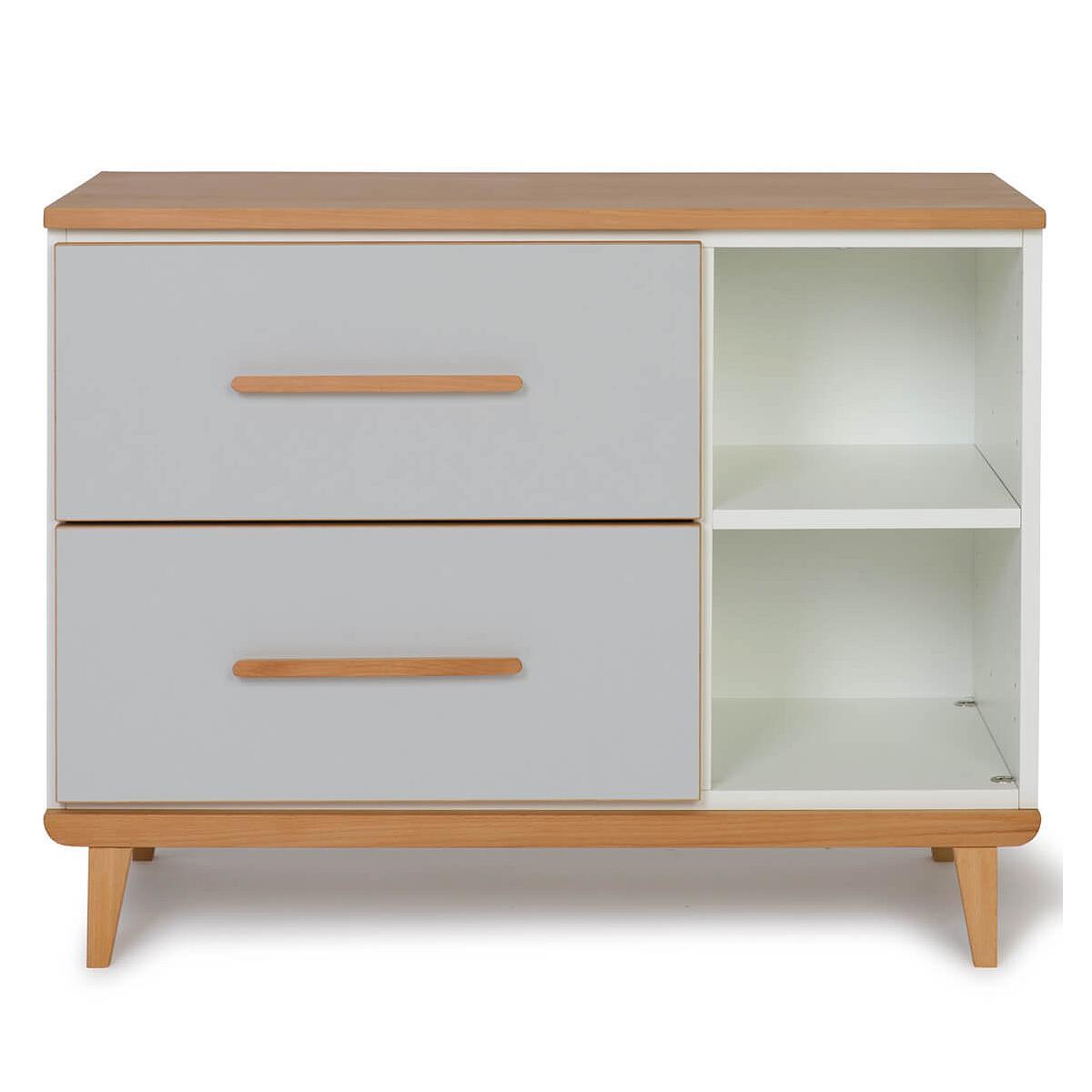 Wookids - Petit meuble 2 tiroirs NADO grey
