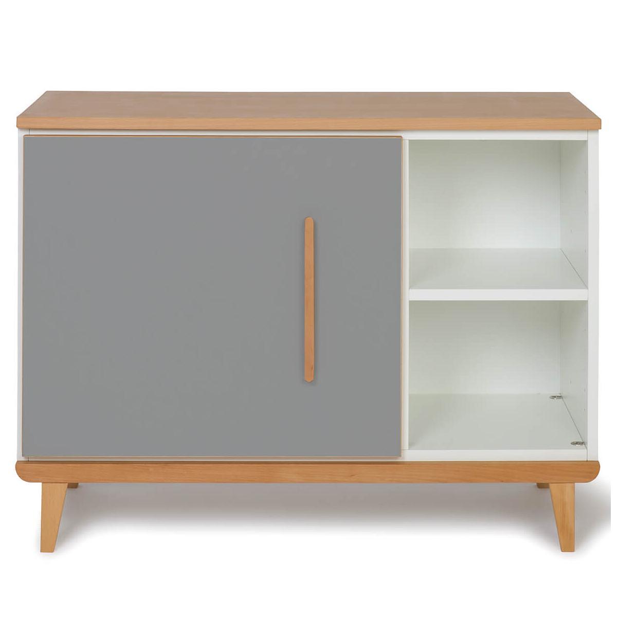 Wookids - Petit meuble 1 porte NADO slate grey