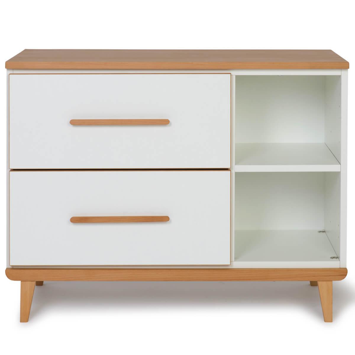 Wookids - Petit meuble 2 tiroirs NADO white